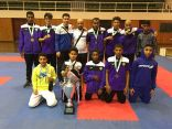 كاراتيه هجر يحرز بطولة الدوري الذهبي لفئة الشباب