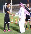 هجر يواصل تدريباته استعداداً لمواجهة الأهلي .. ورئيس النادي يلتقي باللاعبين