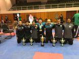 كاراتيه هجر تحرز المركز الأول في بطولة الدوري الذهبي للكاتا والقتال الفردي